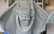 Gargoyle under construction - theatre prop